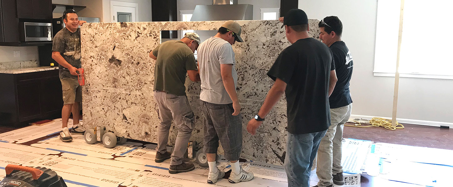Granite installation Island
