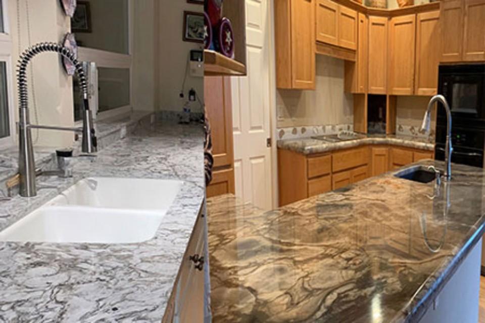 Quartz Vs Granite Sunset Granite Portland Quartz Granite